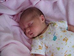 Infant in deep sleep