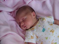 Infant in deep sleep