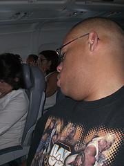 Man sleeps while seating