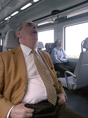 Snorers in the train